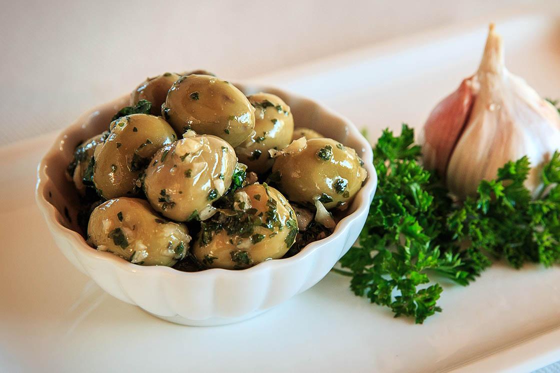 Olives vertes Ail et Persil