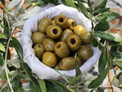 Olives dénoyautées vertes nature