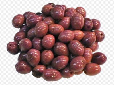 Natural purple olives