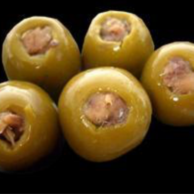 Stuffed green olives with anchovies
