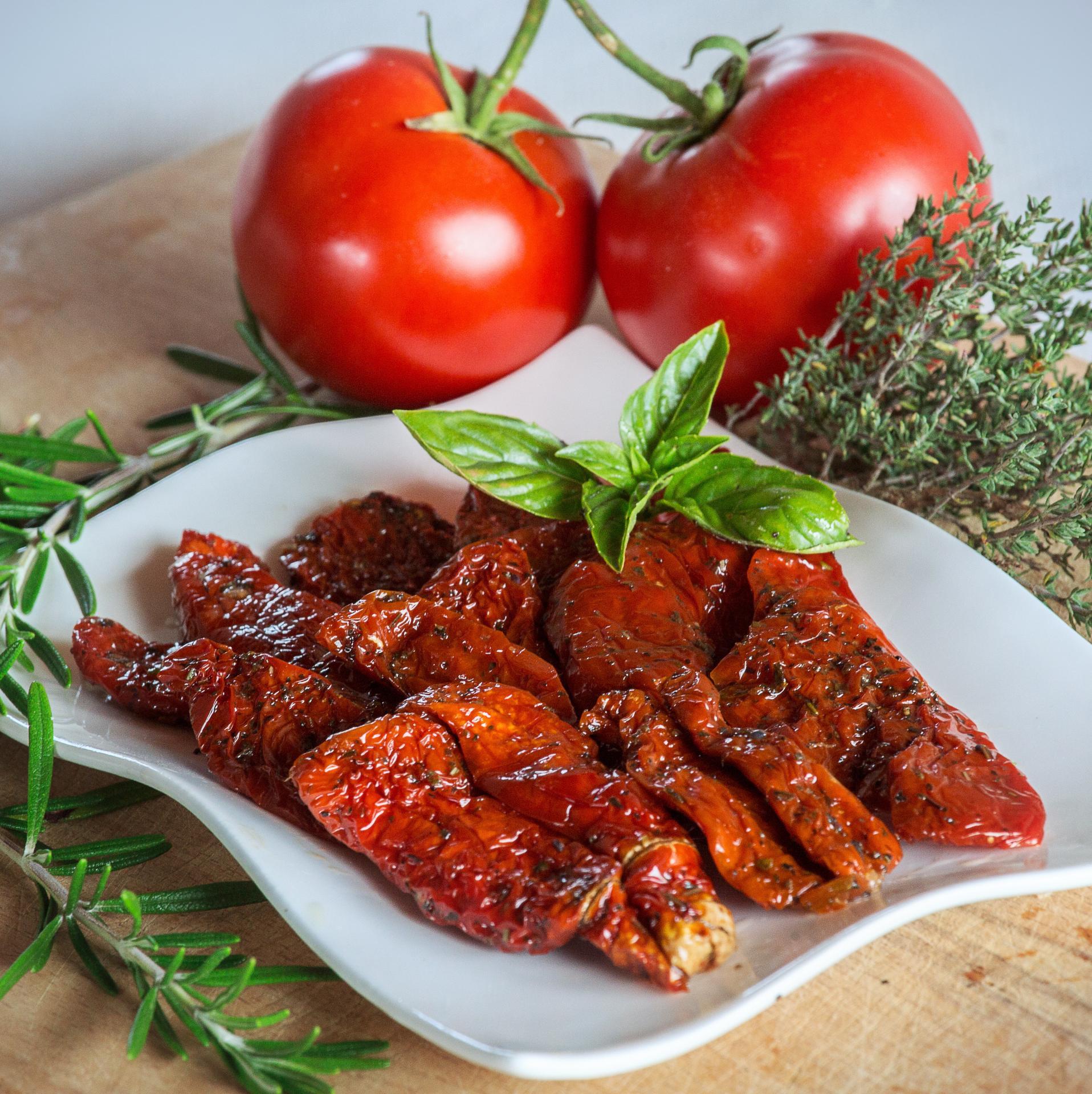 Tomates Confites huile basilic